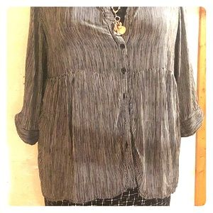 Jones ny rayon 3/4 sleeve blouse